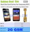 Babiwa Produto ID: BW-3cl-4G - Adaptador de Cartão Dual Sim para Samsung Galaxy S2 (SII, I9100, I910X, SGH I777 I727 ...