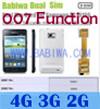 Babiwa Produto ID: BW-3cl-4 - Adaptador de Cartão Dual Sim para Samsung Galaxy S2 (SII, I9100, I910X, SGH I777 I727 ...